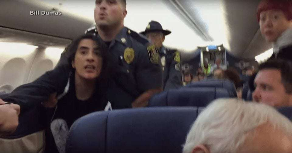 Another person dragged off a flight, this time because of allergies