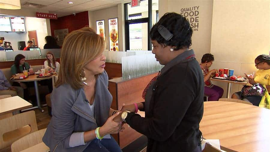 Beloved Wendy's manager fighting breast cancer gets a big surprise from Hoda