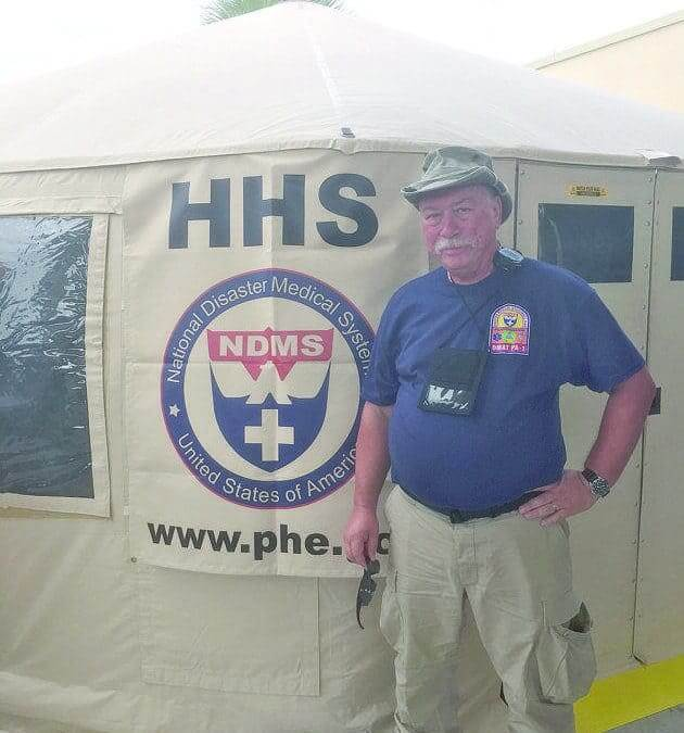Practitioner assists on disaster response