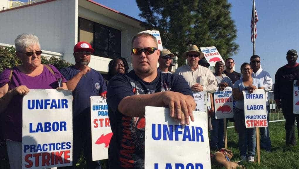 Striking workers allege fatally dangerous environment, racism at Henkel Aerospace