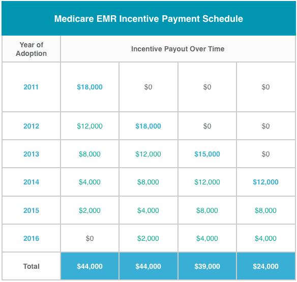 , Government EHR / EMR Incentives Information